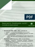 """Bases de la """"Asamblea Nacional Constituyente"""" venezolana de 2017"""