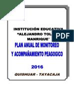 310539120 Plan de Monitoreo y Acompanamiento 2016
