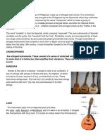 Musical Instruments Rondalla