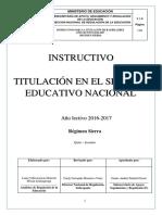 Instructivo Titulación Sierra 2016-2017