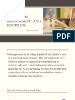 Classroom Management and Discipline Tcc4