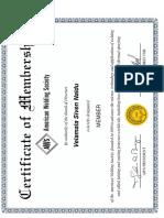 Aws Membership Certificate