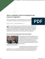 (Mitos y Realidades Sobre Los Inmigrantes Que Viven en La Argentina - 04.12.2014 - LA NACION )