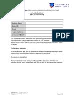 4.BSBHRM405 Assessment 1 Learner