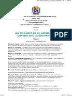 Ley Orgánica de-la Jurisdicción Contencioso Administrativa