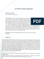 Sri Lanka Malay and Its Lanka Adstrates