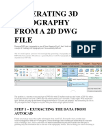 Generating 3d Topography From a 2d Dwg File
