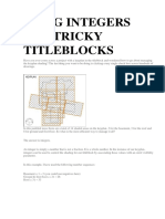 Using Integers for Tricky Titleblocks