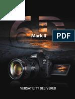 Canon Eos 6d Mark II Product Brochure