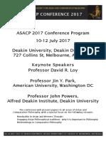 ASACP 2017 Conference Program