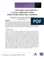 Static & Dynamic Analysis of Wing