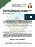 Minicurso Metodologia Utilizada Na Realizacao de Cursos de Plantas