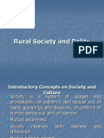 Rural Society and Polity- Lecture I