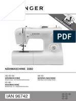 SINGER Freiarm-Nähmaschine Tradition 2282
