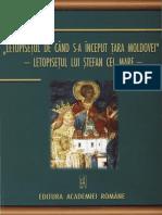"""""""Letopiseţul de când s-a început Ţara Moldovei"""" Letopiseţul lui Ştefan cel Mare.pdf"""