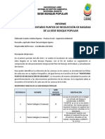 Informe. Inventario Puntos de Recolección de Basuras Sede Bosque Popular (1)
