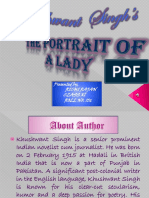 Khushwant Singh's the Portrait of a Lady