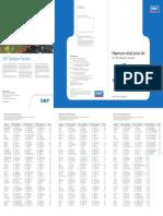 SKF Domestic Pricelist2012