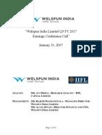 We l Spun India Limited