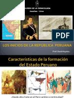 LOS INICIOS DE LA REPÚBLICA PERUANA (1827-1872).pps