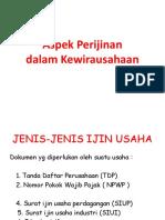 3. ASPEK PERIJINAN DALAM KEWIRAUSAHAAN.pptx