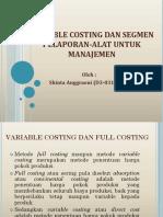 Variable Costing Dan Segmen Pelaporan-Alat Untuk Manajemen