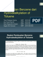 Production of Benzene via the Hydrodealkylation of Toluene