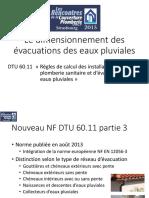 UNCP Le Dimensionnement Des Évacuations Des Eaux Pluviales