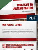Mga Isyu Sa Karapatang Pantao