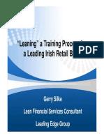 Gerry Silkes Presentation - VSM in Banking