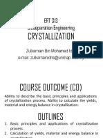 ERT 313 Crystallization_0
