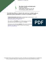 Effect of Saliva on Dental CariesJADA