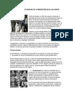 Causas y Consecuencias de La Migración en El Salvador
