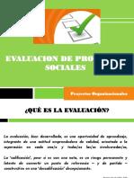 Proyectos Sociales 2017. Evaluación
