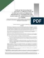 Las nuevas tecnologías de información y comunicación en la eficacia de la formación profesional