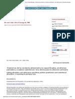 Trastornos de La Conducta Alimentaria No Especificados, Síndromes Parciales y Cuadros Subclínicos_ Una Alerta Para La Atención Primaria