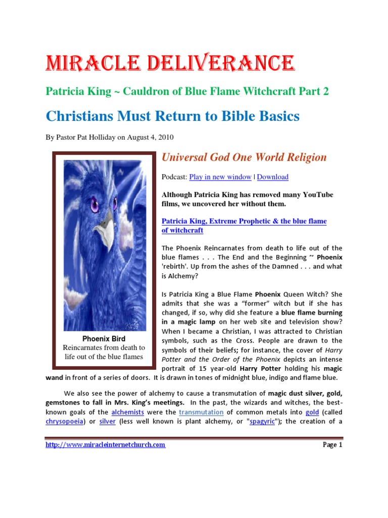 Patricia King Cauldron of Blue Flame Witchcraft Pt 2 docx | Alchemy