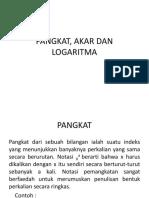 Pangkat Akar Dan Logaritma