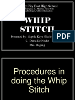 Whip,Running and Straight Stitches