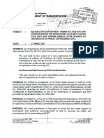 Department of Transportation Department Order_2017-009