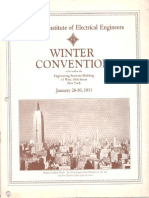 AIEE Winter Convention January 26-30, 1931