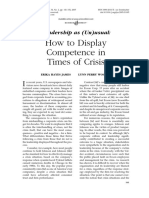 Leadership Crisis - How to Display Competence in Times of Crisis