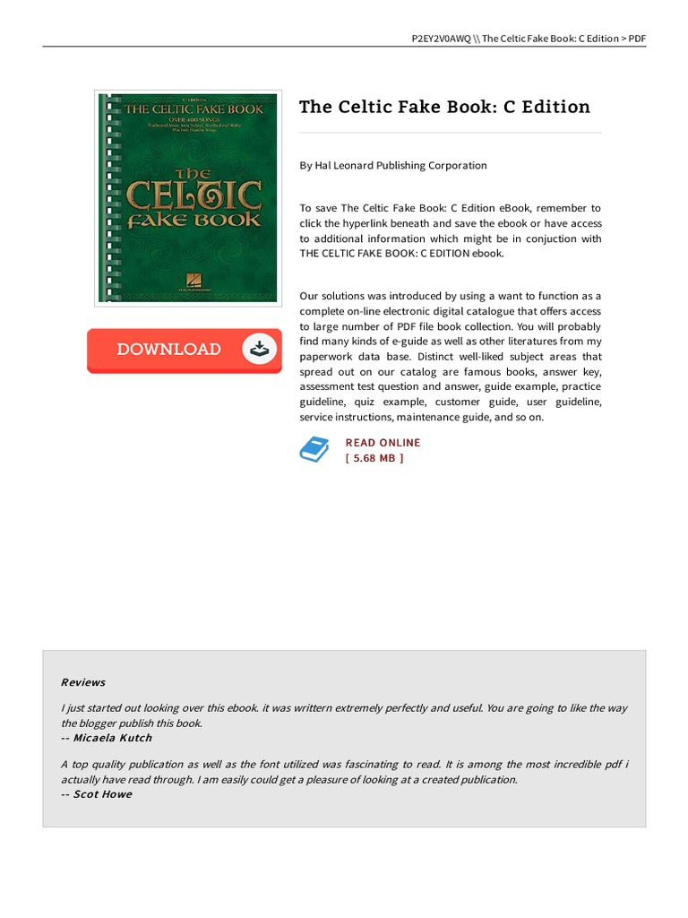 The celtic fake book c edition book e books hyperlink fandeluxe Image collections