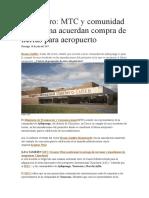 Chinchero, MTC y Comunidad Campesina Acuerdan Compra de Tierras Para Aeropuerto
