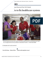 Doctor Wants to Fix Healthcare System, Politics News & Top Stories - The Straits Times