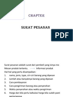 9 Surat Pesanan Dan Pengiriman Pesanan 20150619