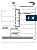 White Lies - Character Sheets