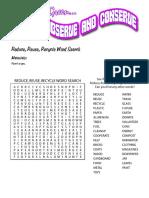 Rrr Word Search