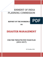 Working Group Report on Disaster Management for 12th FYP