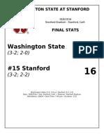 Wsu vs Stanford 2016 Final Stats
